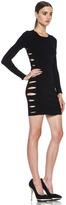 Versus Side Cut Out Long Sleeve Dress in Black