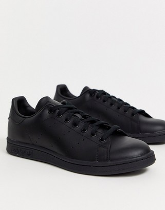 adidas Stan Smith Leather Trainers In Black M20327