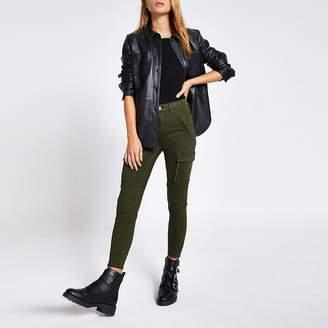 River Island Khaki cargo Amelie super skinny jeans
