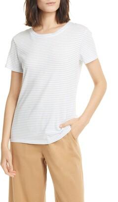 Vince Pencil Stripe Cotton T-Shirt