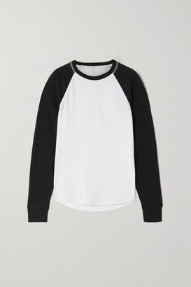 Rag & Bone Two-tone Ribbed Cotton-blend Jersey Top - White