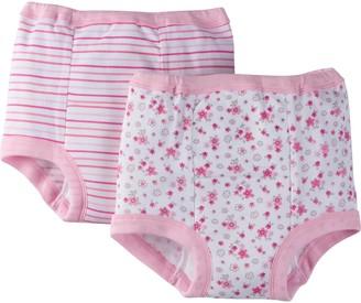 Gerber Toddler Girls' 4 Pack Training Pants Lil' Flowers 2T