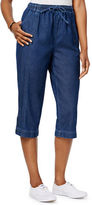 Karen Scott Petite Petite Cotton Denim Capri Pants