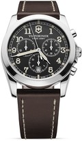 Victorinox Infantry Chronograph Watch with Leather Strap, 40mm