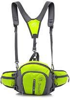 Vankenkey Mountain Climbing Hiking Backpack Multi Functional Sports Outdoor Riding Waist Bag with Bottle Pocket, 25 cm x 23 cm