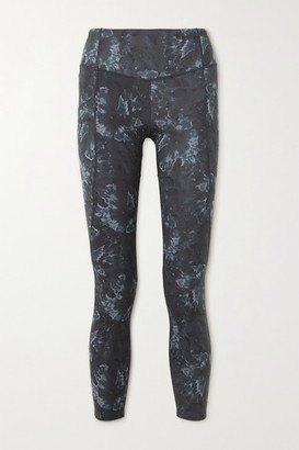 Varley Laidlaw Printed Stretch Leggings - Blue