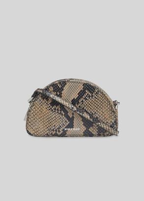 Jasmin Snake Half Moon Bag