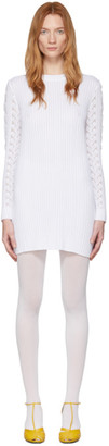 See by Chloe White Lace Sweater Dress