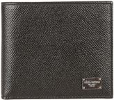 Dolce & Gabbana Black Logo Plaque Billfold Wallet