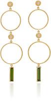 Octavia Elizabeth Nesting Gem Tourmaline and 18K Gold Drop Earrings