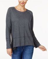 Style&Co. Style & Co Cotton High-Low Top, Only at Macy's