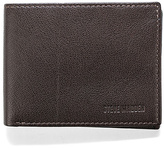 Steve Madden Brown Smooth Grain Passcase Leather Wallet
