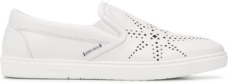 Jimmy Choo Grove star perforated slip-on sneakers