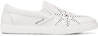 Jimmy Choo Grove star perforated slip-on sneakers