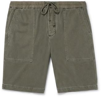 James Perse Wide-Leg Cotton-Jersey Drawstring Shorts