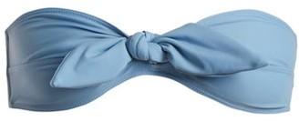 Ephemera - Tie-front Bandeau Bikini Top - Womens - Blue