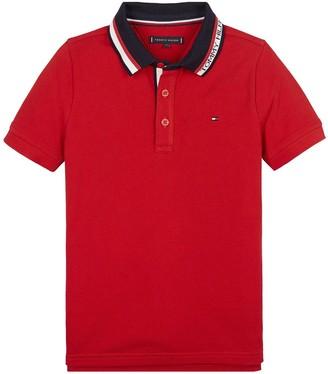 Tommy Hilfiger Boys Short Sleeve Logo Collar Polo