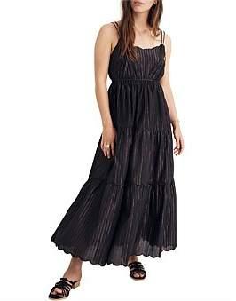 Madewell Lurex Stripe Double Strap Dress