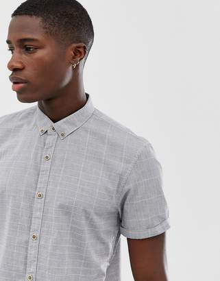 Tom Tailor light checked shirt in stone
