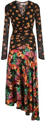 Diane von Furstenberg floral print asymmetric dress