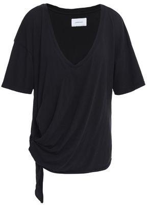 Current/Elliott Lace-up Cotton-jersey T-shirt