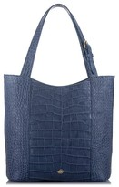 Brahmin Savannah - Brayden Embossed Leather Tote - Blue