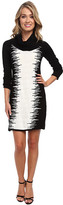 Christin Michaels Bailey Static Stripe Dress