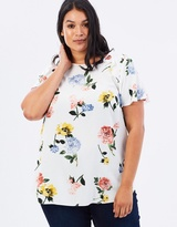 Floral Ruffle Soft Top