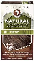 Clairol Natural Instincts Semi-Permanent Hair Color Kit For Men, 3 Pack, Color, Ammonia Free, Long Lasting for 28 Shampoos
