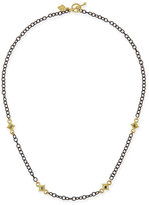 """Armenta Heraldry Cable Chain Cross Necklace, 16""""L"""