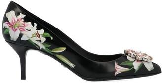 Dolce & Gabbana Floral Printed Embellished Pumps