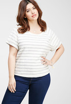 Forever 21 Striped French Terry Top