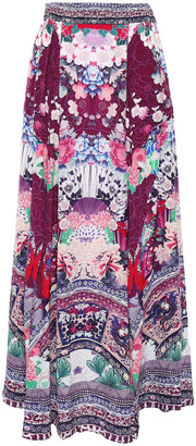 Camilla Little Osaka Girl Crystal-embellished Silk Crepe De Chine Maxi Skirt