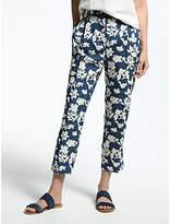 Max Mara Weekend Floral Print Trousers, Avio
