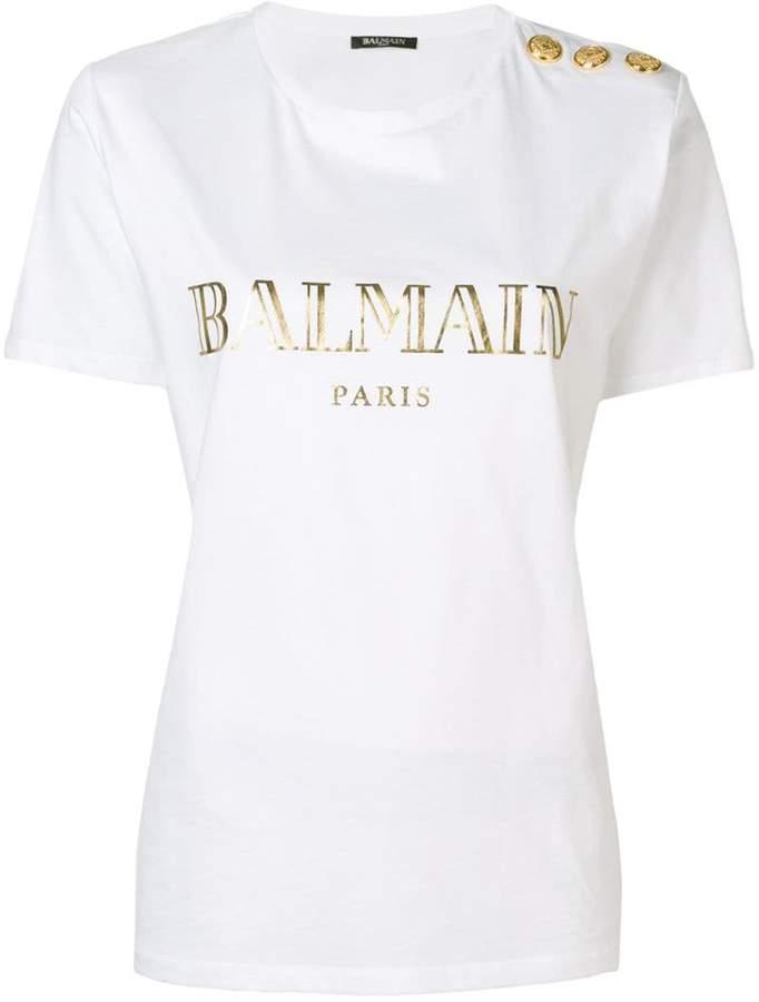 6908dad6 Balmain Women's Tees And Tshirts - ShopStyle