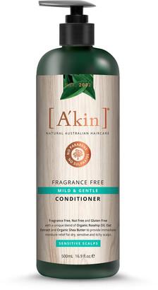 Akin A'Kin Fragrance Free Mild & Gentle Hypoallergenic Conditioner 500Ml