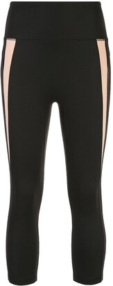 Kiki de Montparnasse Mesh-Panel Cropped Compression Leggings