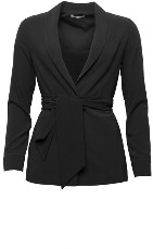 Marville Road - Elena Wrap Blazer - 34 - Black