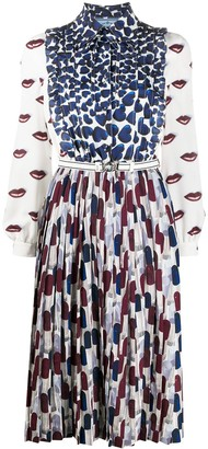 Prada Lips And Hearts Print Dress