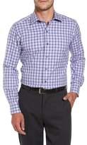David Donahue Plaid Herringbone Sport Shirt