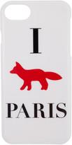 MAISON KITSUNÉ White i Fox Paris Iphone 7 Case