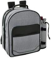 Picnic at Ascot Houndstooth Picnic Backpack for Two - Houndstooth Picnic