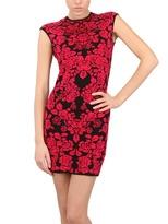 Alexander McQueen Flower Wool Viscose Jacquard Dress