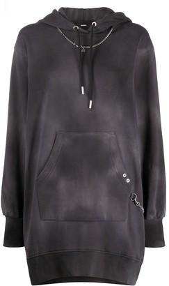 Diesel Acid-Wash Hooded Sweatshirt Dress