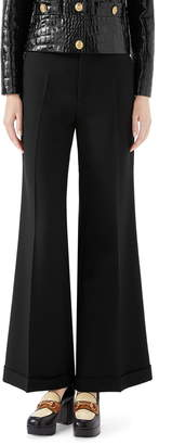 Gucci Wool & Mohair Cuffed Ankle Pants
