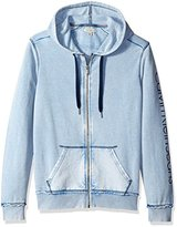 Calvin Klein Jeans Men's Washed Full Zip Hoodie Sweatshirt