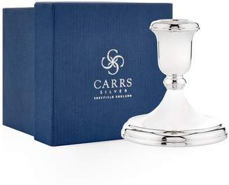 Carrs of Sheffield Silver Plain Round Sterling Silver Candlestick (10cm)