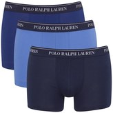 Polo Ralph Lauren Men's 3 Pack Trunk Boxer Shorts Blue Denim