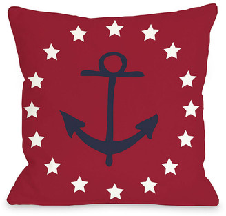 One Bella Casa Anchor Stars Decorative Pillow