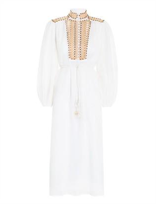 Zimmermann Brighton Beaded Yoke Dress